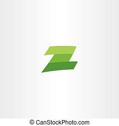 verde, logotype, z, carta, vector, señal