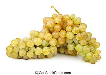 verde, maduro, uvas