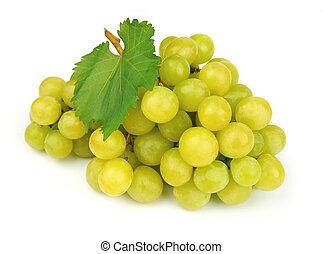 verde, maturo, uva