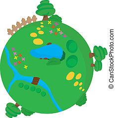 verde, meio ambiente