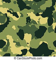 verde, militar, seamless, camuflaje