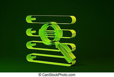 verde, minimalismo, ricerca, render, isolato, fondo., giallo, browser, illustrazione, concept., 3d, icona, finestra