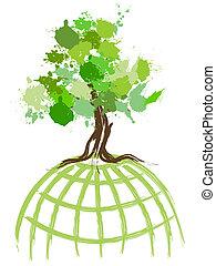 verde, mondo, concetto