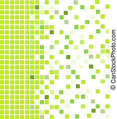 verde, mosaico, fondo
