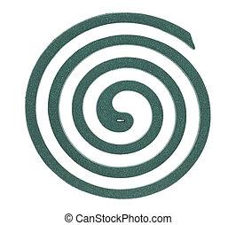verde, mosquito, espiral