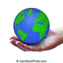 verde, mundo, ecología, concepto