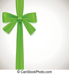 verde, nastro, bow.