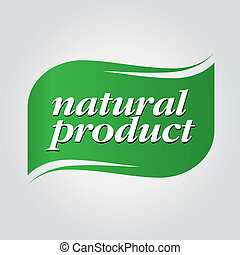 verde, natural, producto, marca