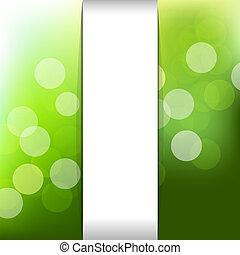 verde, naturaleza, plano de fondo, con, bokeh