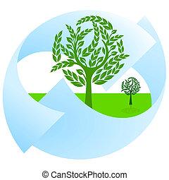 verde, naturaleza, protección, y, landsca