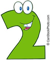 verde, numero due