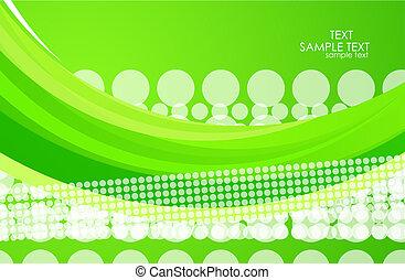 verde, onda, fondo