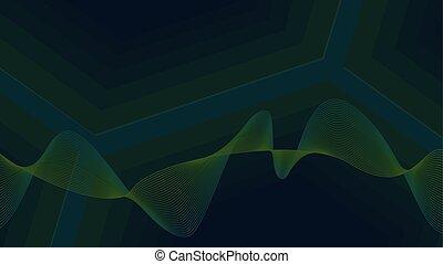 verde, onda, fundo, desenho