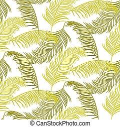 verde, palma sale, seamless, vector, pattern.