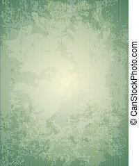 verde, papel, antigas, textura