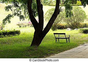 verde, parque cidade
