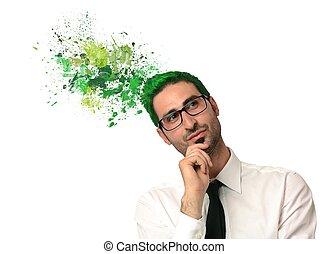 verde, pensar