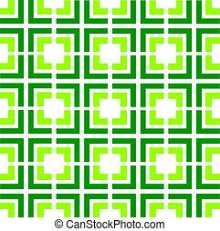 verde, piastrella, seamless, modello