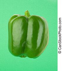 verde, pimienta dulce, xxl