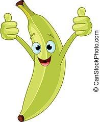 verde, plátano, carácter
