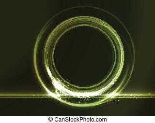 verde, placeholder, effetti, rotondo, luce