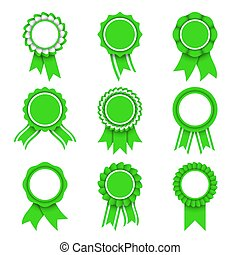 verde, premio, medaglie
