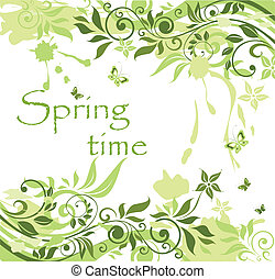 verde, primavera, bandiera