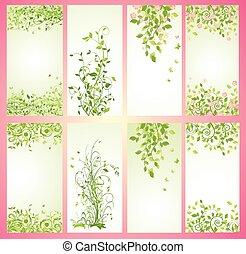 verde, primavera, bandiere verticali