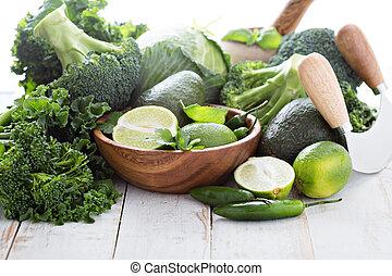 verde, produto fresco, espaço cópia