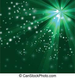 verde, projeto cor, com, um, estouro
