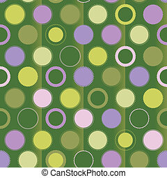 verde, puntino, polka, ornamenti, fondo