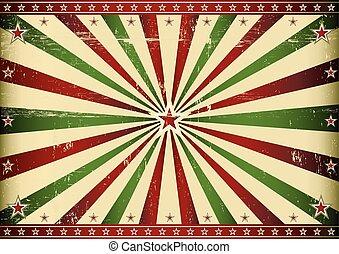 verde, raggio sole, retro, rosso