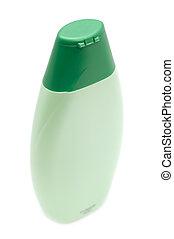 verde, recipiente, para, shampoo