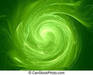 verde, remolino