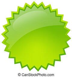 verde, respingo, estrela