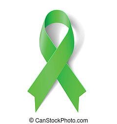 verde, ribbon.