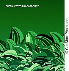 verde sai, abstratos, vetorial