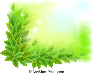 verde sai, ensolarado, fundo