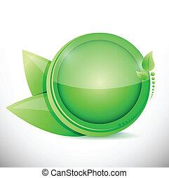verde sai, ilustração, desenho