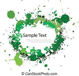verde, salpicadura, tono, tinta