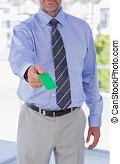 verde, scheda, affari, dare, uomo affari