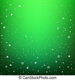 verde scuro, nevicata, fondo