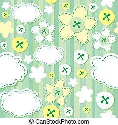 verde, seamless, patrón