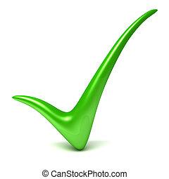 verde, segno spunta