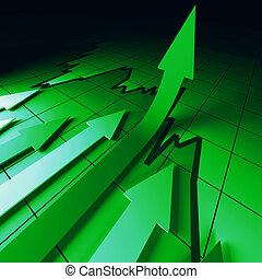 verde, setas, mapa