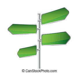 verde, sinal estrada