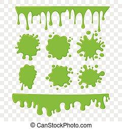 verde, slime, vetorial, jogo, ligado, checkered,...