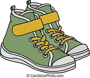 verde, sneakers, childrens
