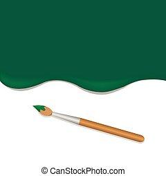 verde, spazzola, fondo