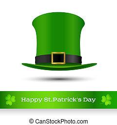 verde, st., cappello, patrick's, giorno